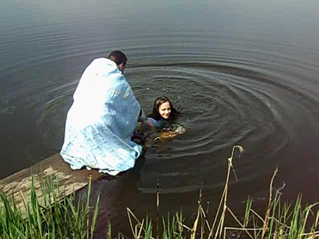 Крещение на озере