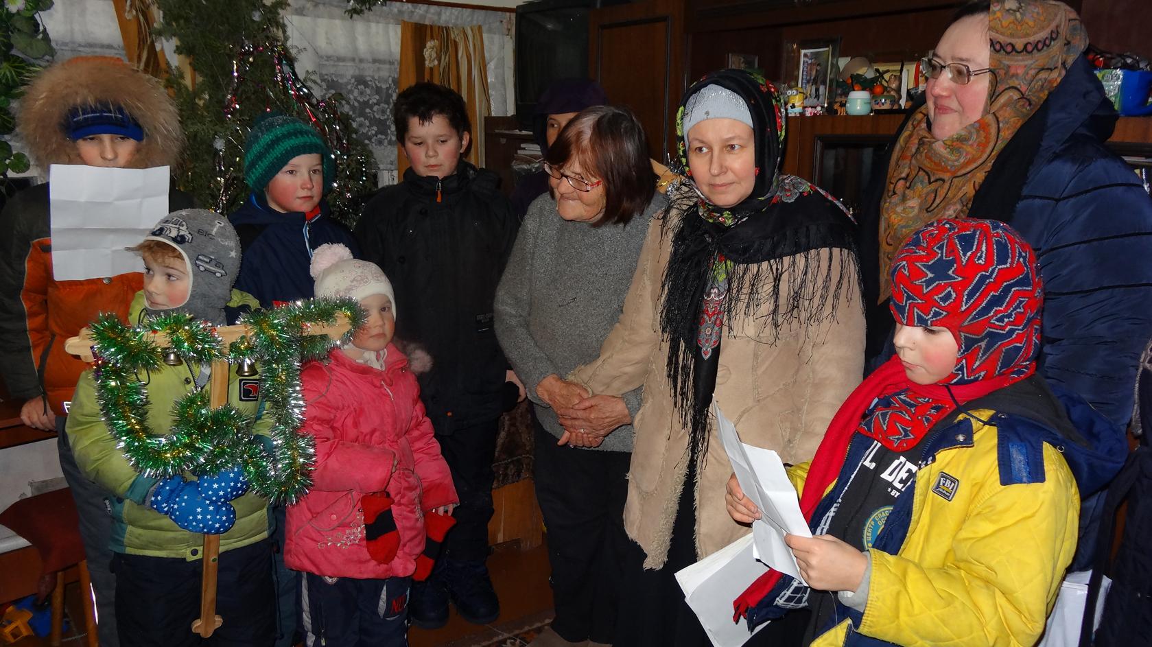 Рождественский концерт и колядки в Еганово