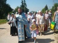 Крестный ход –Престольный праздник - Тихвинской иконы Божией Матери. Со мной дочка - Александра