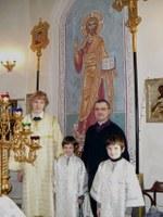 Наши алтарники –Сергей, Глеб, Ваня и Георгий