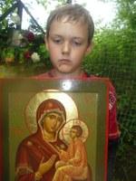 Никита –С иконой Тихвинской Богоматери