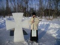 У креста –Работу принял